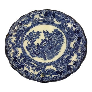 Blue & White English Porcelain Plate