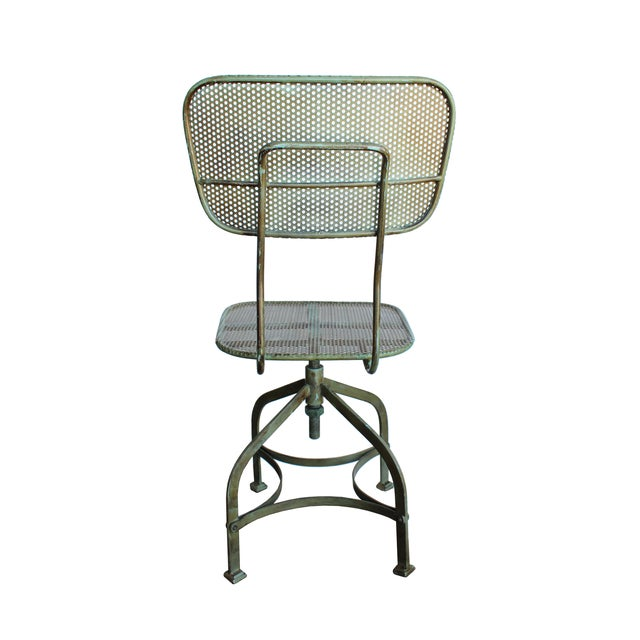 Image of Adjustable Perforated Factory Chair