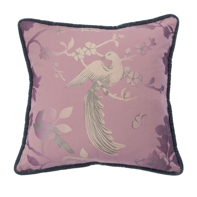 Image of Bird Song Pillow Pink 19""