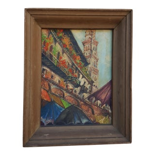 Conchita Robinson Abstract Cityscape Painting