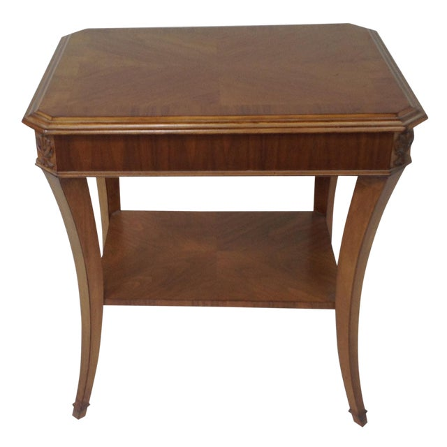 Modern Walnut End Table - Image 1 of 5