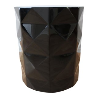 Black Acrylic Embossed Diamonds Accent Table