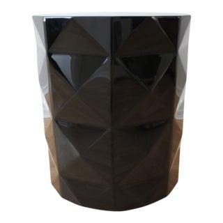 Black Acrylic Embossed Diamonds Accent Table