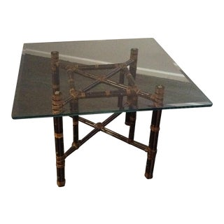 McGuire Glass Top Game Table