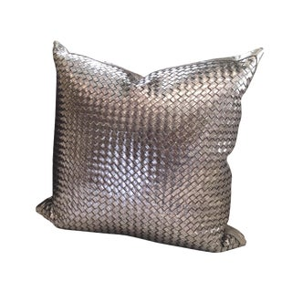 Lance Woven Leather Pillow