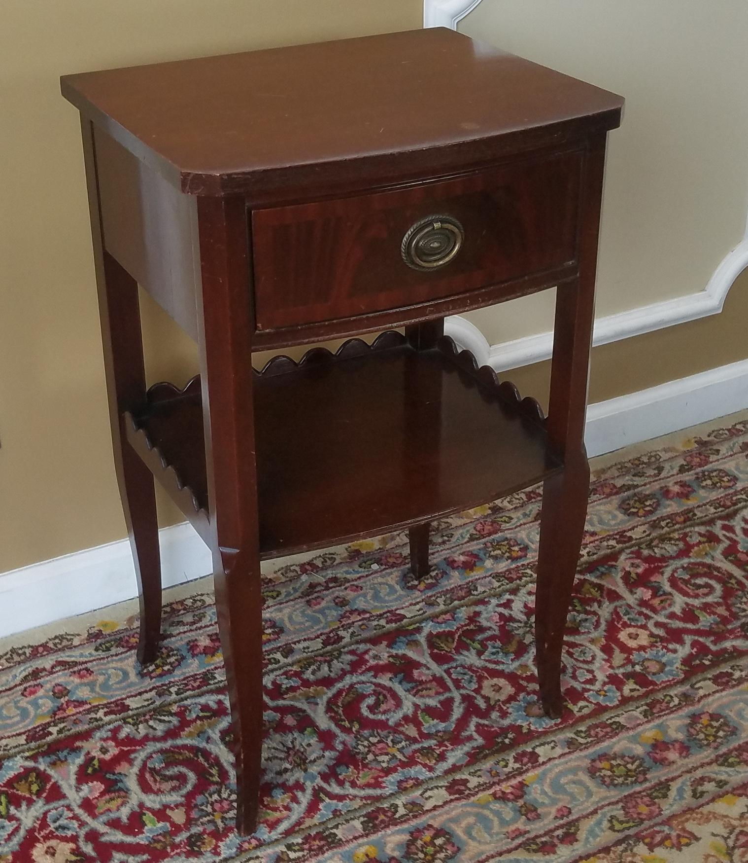 Rway Northern Furniture Co Mahogany Sheraton Style Bedroom Nightstand    Image 2 Of 8