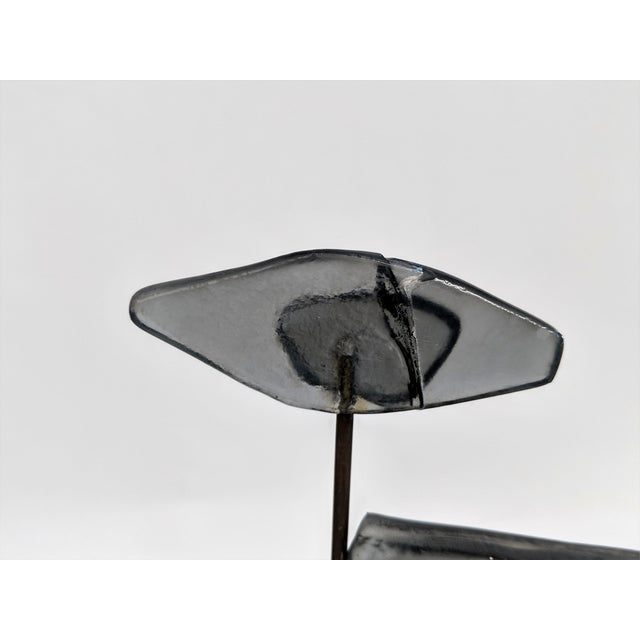 Higgins Style Studio Art Glass Sculpture on Wood Base - Image 9 of 11