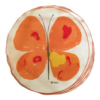 Vintage Vera Round Butterfly Placemats - Set of 8