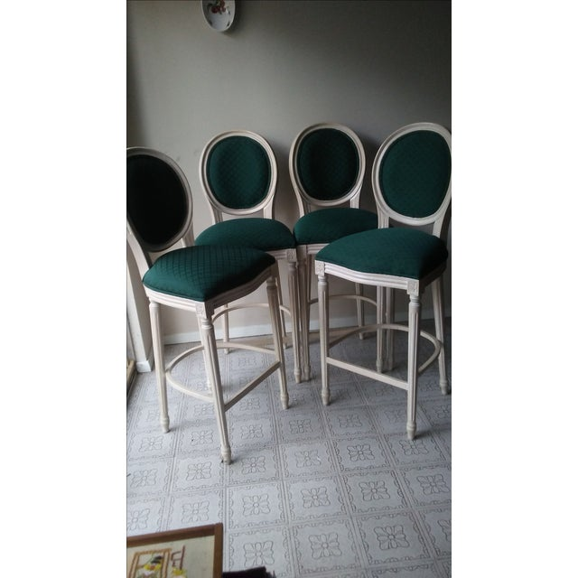 French Louis XVI Style Bar Stools - 4 - Image 9 of 10