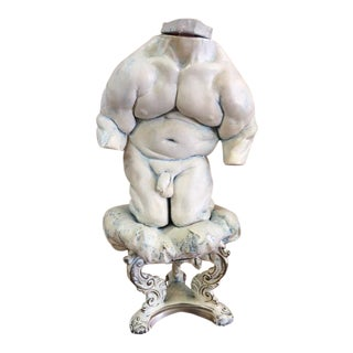 Nude Torso On Stand Sculpture