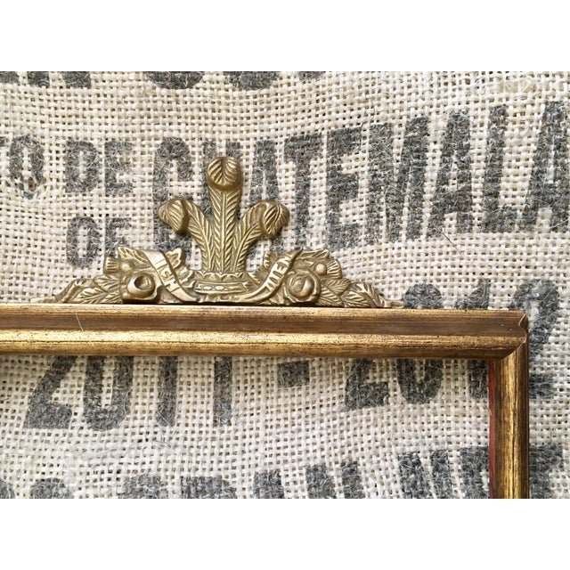 Vintage Solid Brass Frame Topper - Image 5 of 5