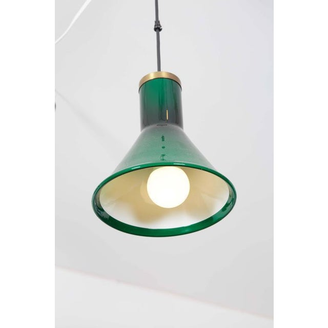 Green Glass Pendant Lamp by Holmegaard - Image 2 of 4
