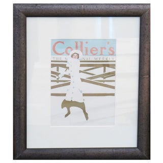 Framed 1922 Colliers Mini Poster