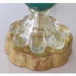 Image of An Italian Teal Cased-Glass Double-Handled Urn-Form Lamp