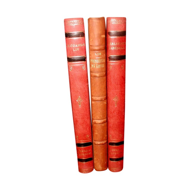 Swedish 1922 Leather Display Books - Set of 3 - Image 1 of 9