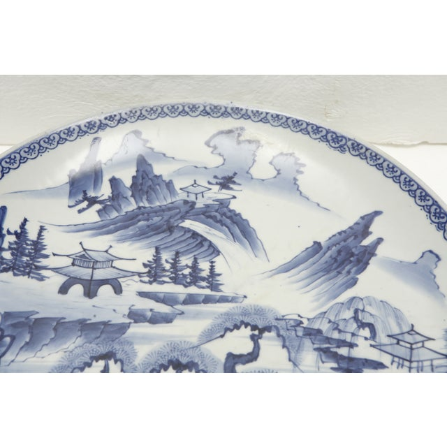 Vintage Japanese Blue and White Charger - Image 5 of 8