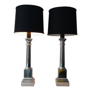 Warren Kessler Chrome Lamps - A Pair