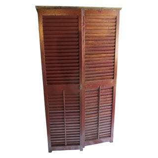 Upcycled Shutter Armoire