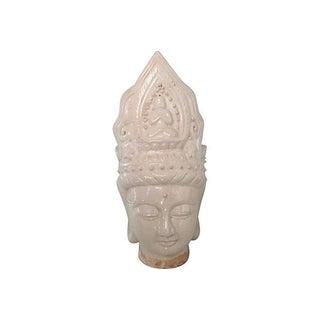 Ivory Chinese Majolica Buddha Head