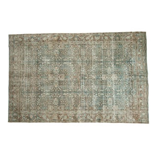 "Vintage Distressed Tabriz Carpet - 6'6"" x 9'11"""