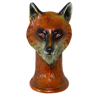 Vintage Hand-Painted Fox Head Bottle Opener