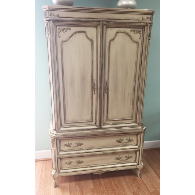 Vintage French Provincial Armoire - Image 2 of 11