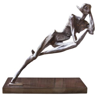 Brutalist Bronze Sculpture by M. Victor; 1960s