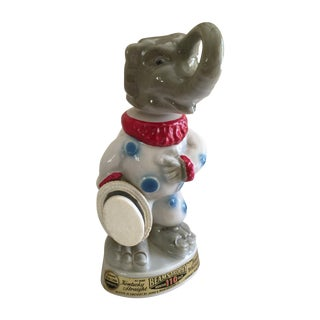 Mid-Century Elephant Ceramic Bourbon Bottle