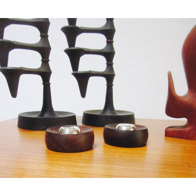 Danish Modern Nissen Candle Holders - A Pair - Image 3 of 9