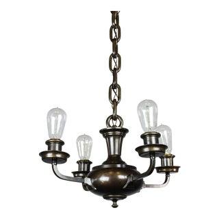 Artistic Arts & Crafts Bare Bulb Pan Light Fixture (4-Light)