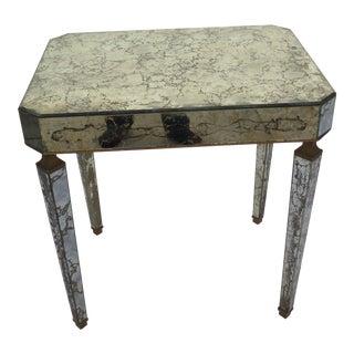 1950's Italian Regency Mirrored Accent/Side Table