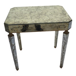 1950's Italian Regency Mirrored Accent/Side Table