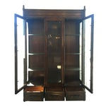 Image of Century Furniture Vintage 1980 Faux Bamboo Cabinet
