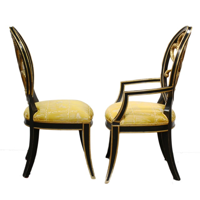 Image of Hollywood Regency Elephant Motif Chairs - Set of 8