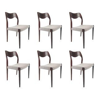 Vintage Niels Otto Moller Rosewood Dining Chairs - Set of 6