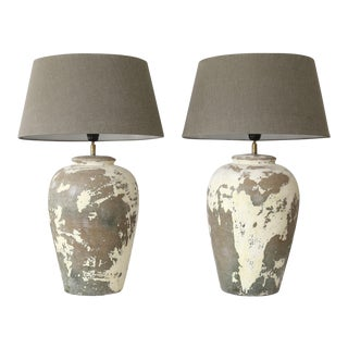 Pair of Ceramic Vase Lamps