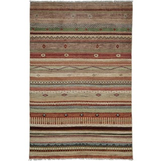 """Ziegler, Hand Knotted Area Rug - 4' 1"""" x 6' 1"""""""