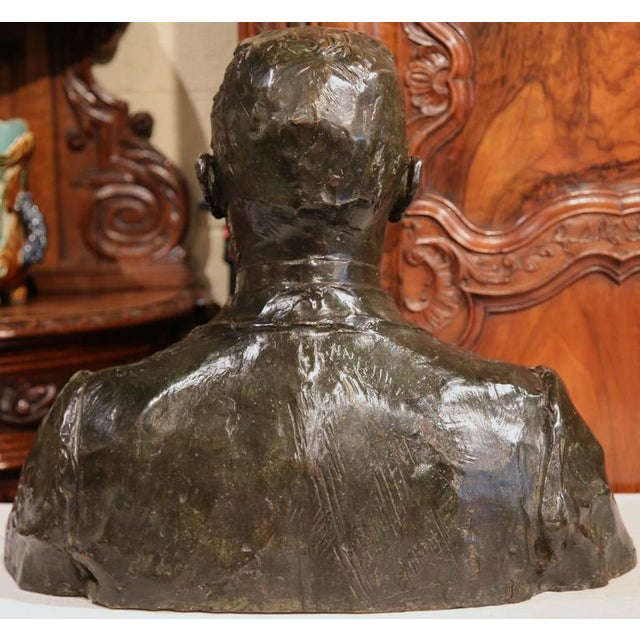 """Large 20th Century French Bronze Bust Signed """"A. Descatoire"""", 1913 - Image 7 of 8"""