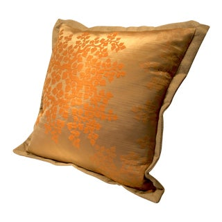 Gingko Yellow-Gold Silk Blend Pillow