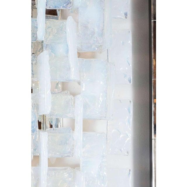 Mid-Century Modernist Iridescent Interlocking Sconces By Mazzega - Image 4 of 7
