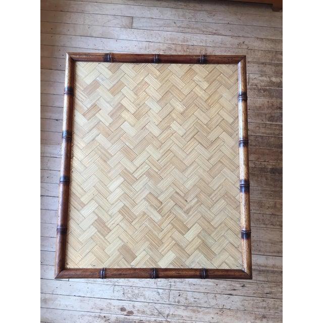Mid-Century Rattan Folding Side Table - Image 4 of 5