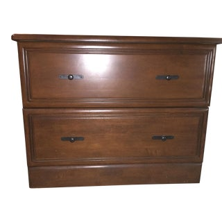 Cherry Wood 2 Drawer Cabinet