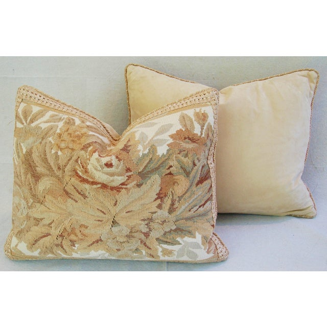 Custom Aubusson Tapestry Pillows - A Pair - Image 7 of 11