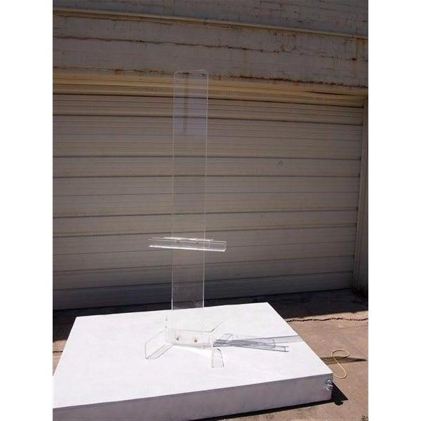 Modern Transparent Plexi-Glass Italian Easel - Image 3 of 4