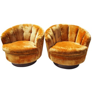 Hollywood Regency Lounge Chairs - A Pair
