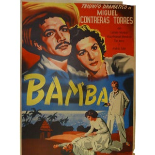 """Bamba"" Vintage Mexican Cinema Poster"