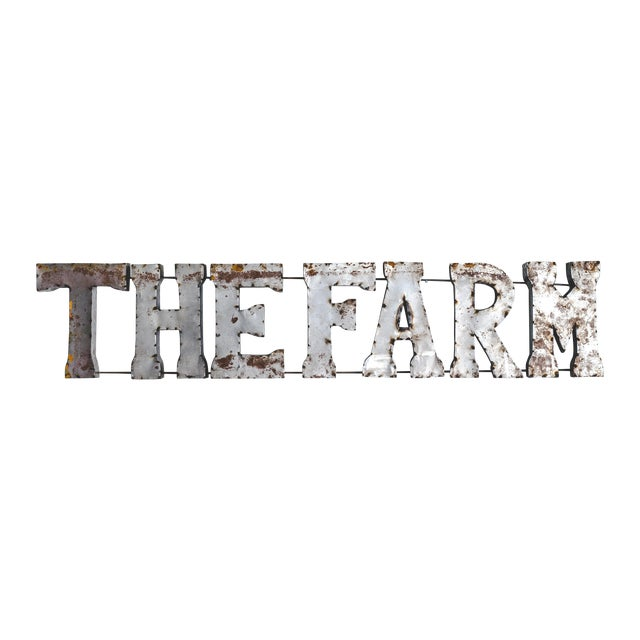 The Farm Rustic Metal Marquee Sign - Image 1 of 3