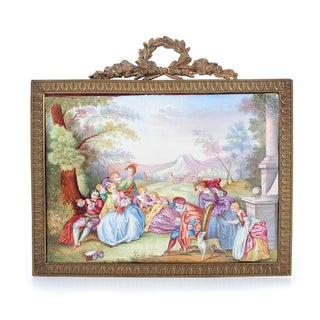 19th C. French Painted Porcelain Plaque