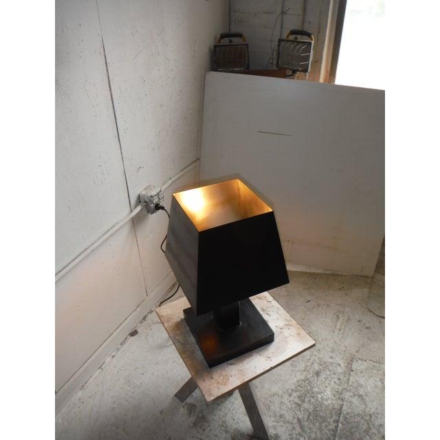 Deco Inspired Steel/Bronze Concorde Table Lamp #2 - Image 5 of 5