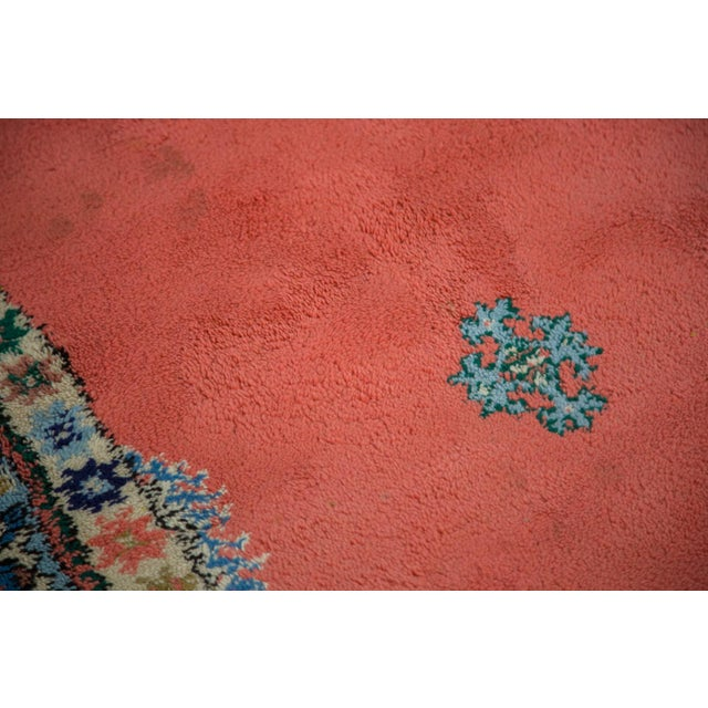 "Vintage Red & Blue Moroccan Rug - 6'8"" X 9'6"" - Image 5 of 9"